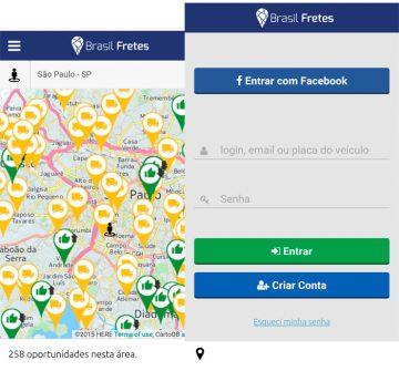 O aplicativo da Brasil Fretes é destaque no Cargo News