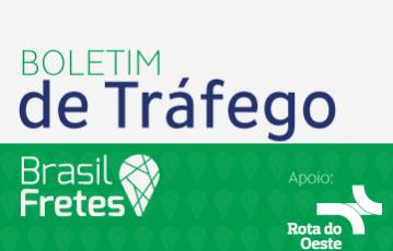 Boletim de Tráfego – Brasil Fretes – 15/06/2016